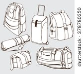 luggage and travel bag for... | Shutterstock .eps vector #378780250
