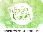 wake up. spring is coming... | Shutterstock .eps vector #378781249