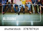 blog blogging content social... | Shutterstock . vector #378787414
