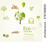 environmentally friendly world. ... | Shutterstock .eps vector #378788800