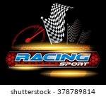 racing sport concept for logo... | Shutterstock .eps vector #378789814