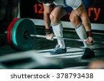 closeup athlete of powerlifter... | Shutterstock . vector #378793438