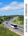 buses on the highway with... | Shutterstock . vector #378800260