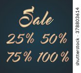 'sale' and percentages sale... | Shutterstock .eps vector #378803614