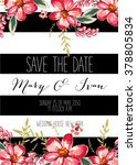 save the date design. wedding... | Shutterstock .eps vector #378805834