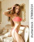 beautiful sexy lady in elegant... | Shutterstock . vector #378806314