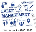 event management. chart with... | Shutterstock .eps vector #378811030