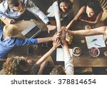 team unity friends meeting... | Shutterstock . vector #378814654