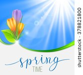 spring greeting card with... | Shutterstock .eps vector #378821800