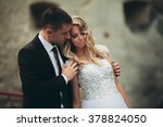 happy wedding couple hugging... | Shutterstock . vector #378824050