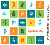 happy mothers day simple flat... | Shutterstock .eps vector #378831433