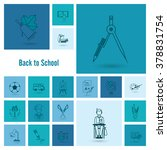 school and education icon set.... | Shutterstock .eps vector #378831754