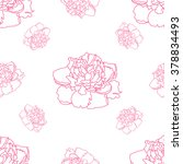 peonies seamless background... | Shutterstock .eps vector #378834493