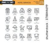 modern minimal flat thin line... | Shutterstock .eps vector #378844699