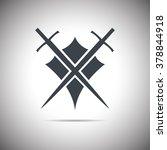 abstract illustration   shield... | Shutterstock .eps vector #378844918