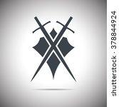 abstract illustration   shield... | Shutterstock .eps vector #378844924