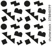 seamless fun geometric pattern... | Shutterstock .eps vector #378848599