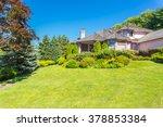 custom built luxury house with... | Shutterstock . vector #378853384