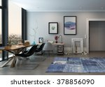 open concept home office space... | Shutterstock . vector #378856090