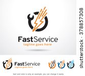 fast service logo template... | Shutterstock .eps vector #378857308