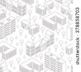 isometric seamless pattern.... | Shutterstock .eps vector #378858703