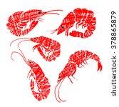 vector shrimp. grunge style | Shutterstock .eps vector #378865879
