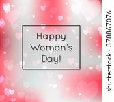 happy woman's day  cover card... | Shutterstock .eps vector #378867076