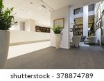 Stock photo reception area with reception desk 378874789