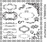 victorian swirl elements set is ... | Shutterstock . vector #378884356