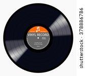 gramophone gray label vinyl lp... | Shutterstock .eps vector #378886786