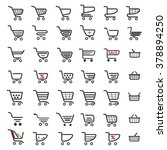 shopping cart icons set for... | Shutterstock .eps vector #378894250