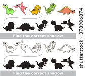dinosaurs set with shadows to... | Shutterstock .eps vector #378906874