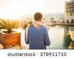 bride embraces bridegroom | Shutterstock . vector #378911710