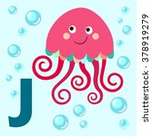 cute animal alphabet for abc... | Shutterstock .eps vector #378919279