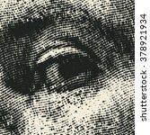 halftone male eye. vector... | Shutterstock .eps vector #378921934