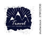mountains travel simple vintage ... | Shutterstock .eps vector #378922930