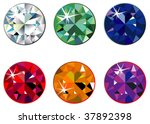 round precious stones with... | Shutterstock .eps vector #37892398