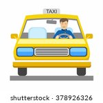 taxi  taxi driver  color... | Shutterstock .eps vector #378926326