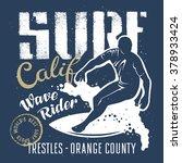 surfing artwork. wave rider....   Shutterstock .eps vector #378933424