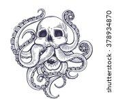 vector black and white tattoo... | Shutterstock .eps vector #378934870