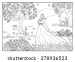 Coloring Page   Princess In Th...