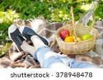 spring picnic concept. picnic...   Shutterstock . vector #378948478