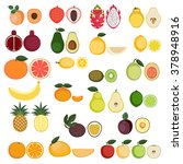set of cartoon food icons.... | Shutterstock .eps vector #378948916