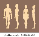 silhouettes of men and women at ... | Shutterstock . vector #378949588