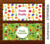 fresh fruits and vegetables web ... | Shutterstock .eps vector #378950836
