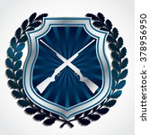 3d hunting theme symbol   blue... | Shutterstock .eps vector #378956950