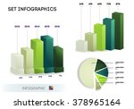 set infographic template  pie