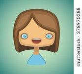 girl | Shutterstock .eps vector #378970288