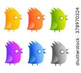 set of colored birds. | Shutterstock .eps vector #378970324