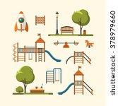 kids playground  city park set. ...   Shutterstock .eps vector #378979660